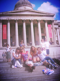Spanish students in London with Laura