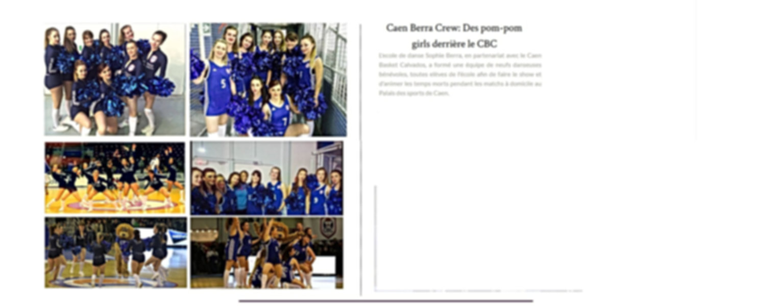 Ecole de danse Sophie Berra danse caen CBC basketball Caen Berra Crew