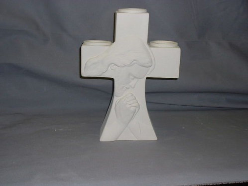Cross with picture of Christ