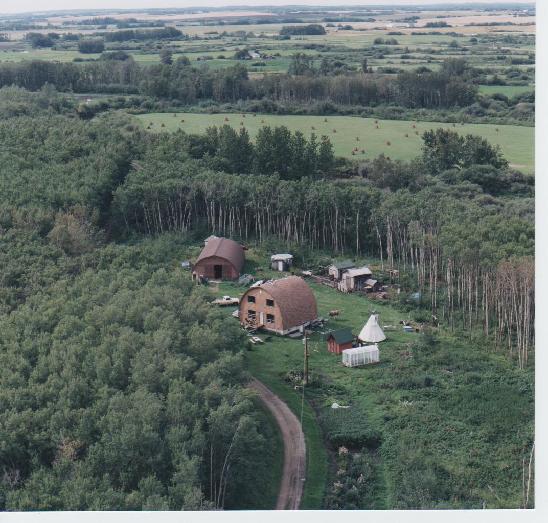 Aerial Photo of Tipi Creek Farm