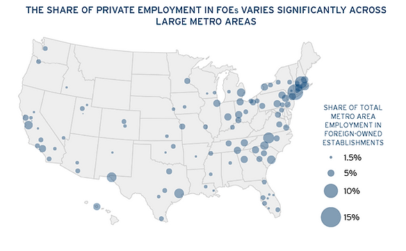 brookings foreign owned employers map