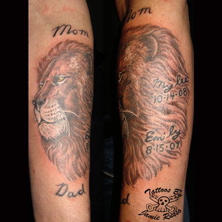 lion Tattoo by Jamie Russo Barrie