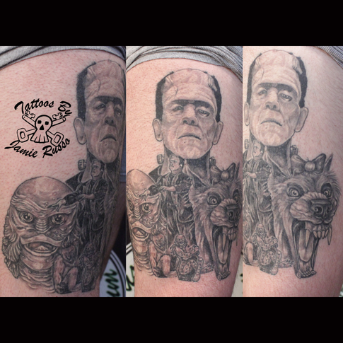 Spooky portraits Tattoo by Jamie Russo Barrie