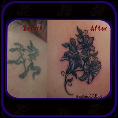 unicorn to flowers Tattoo by Amanda Hashimoto Pushing Inc Barrie