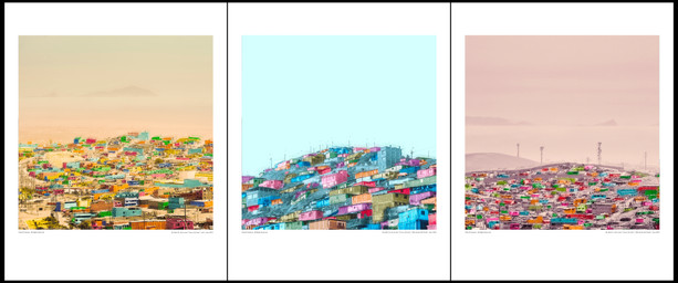 "Pack of 3 / ""The hills of Lima"", 2019"