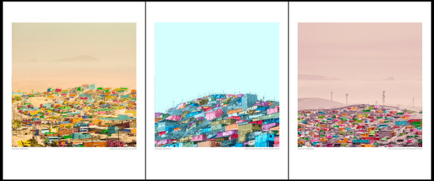 """Pack of 3 / """"The hills of Lima"""", 2019"""