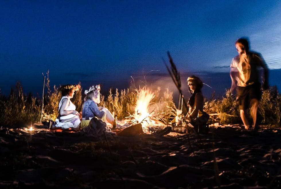 Jurmala night bonfire