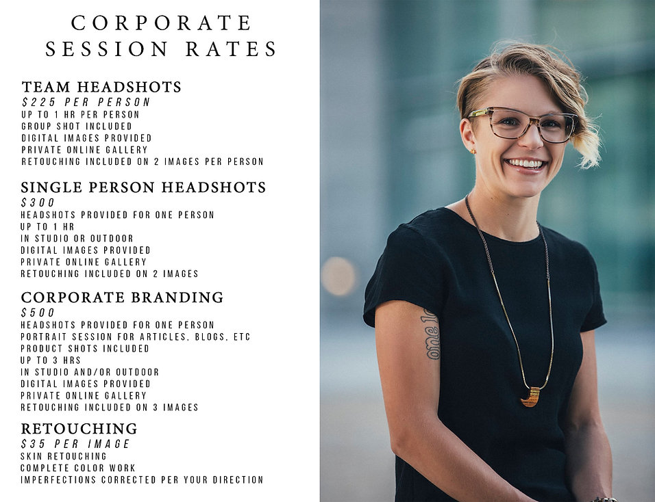 Louisville Kentucky Headshots Corporate Business Photography Pricing