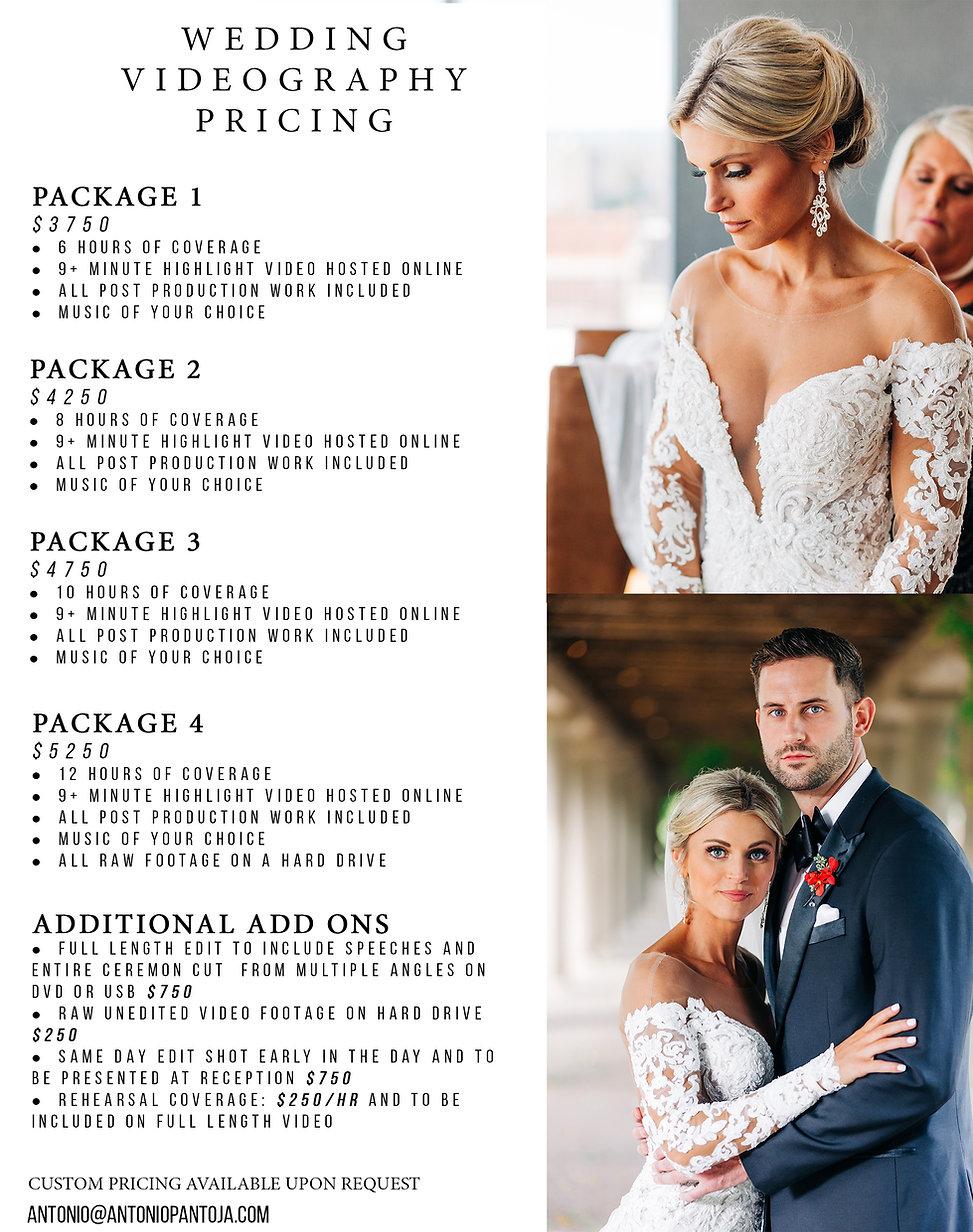 Louisville Kentucky KY Wedding Videography Pricing Antonio Pantoja 2020