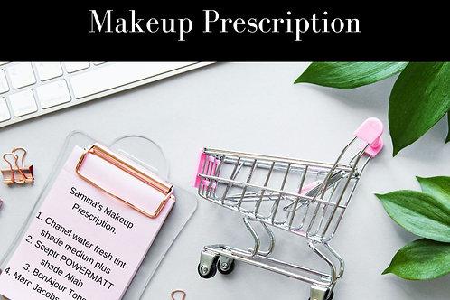 Makeup Prescription