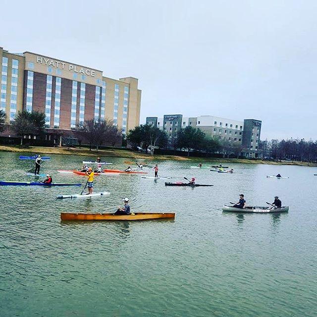 Participated in a paddle scrimmage Sunda