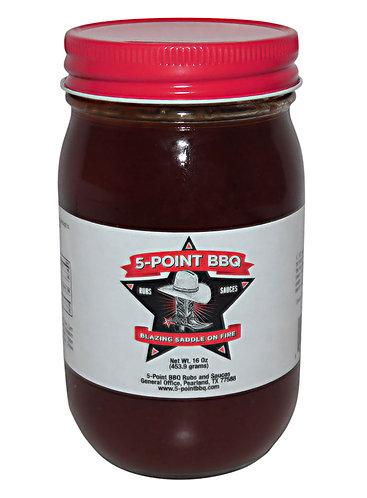Blazing Saddle on Fire BBQ Sauce