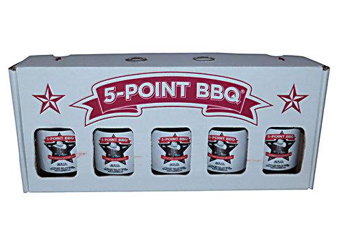 Sample BBQ 5 Sauce Box