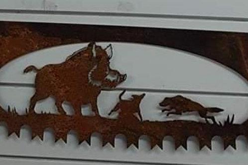 Pig dog saw blade