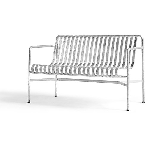 Hay Palissade Dining Bench Hot Galvanised Outdoor