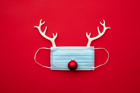 Festive christmas reindeer made from fac