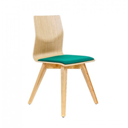 Rouillard Zoa Wood Upholstered Side Chair