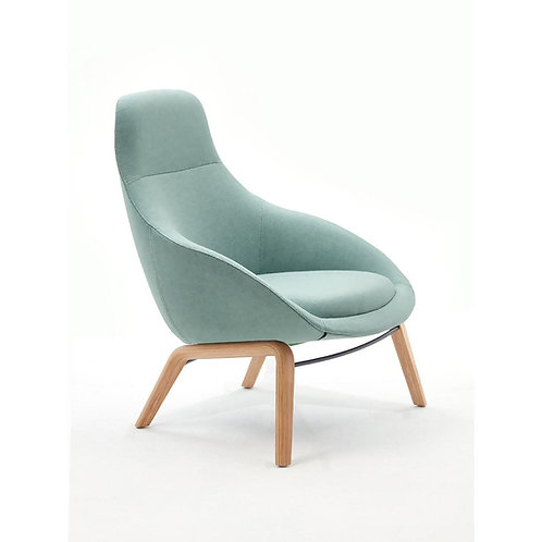 Naughtone Always Wood Base Lounge Chair