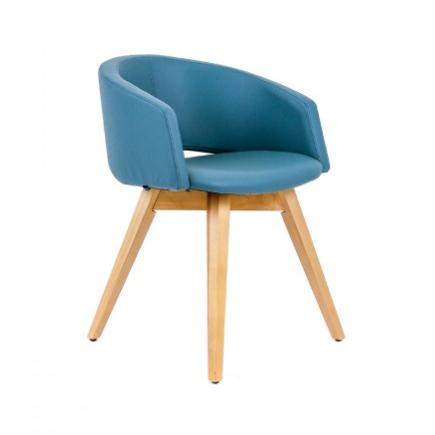 Rouillard Mini Low Back Wood Leg Side Chair