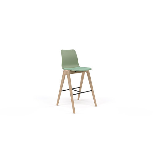 Naughtone Polly-Wood Counter Height Stool