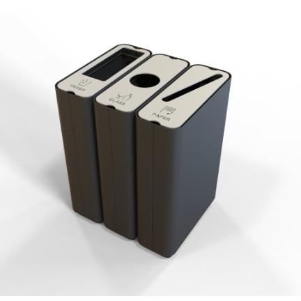 Green Furniture Radius Waste Recycle Bin Accessories