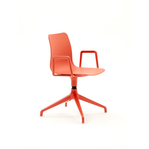 Naughtone Polly 4 Point Base with Arms Side Chair