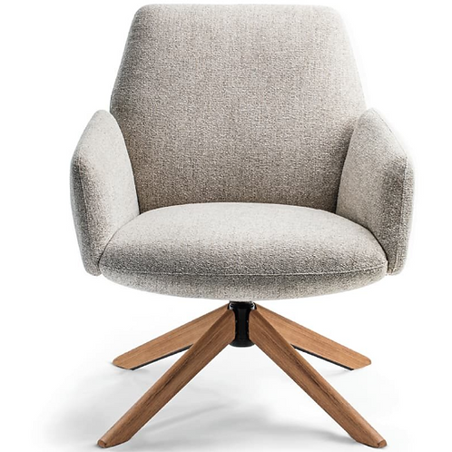 Ideon Envoi Midback Wood Base Lounge Chair