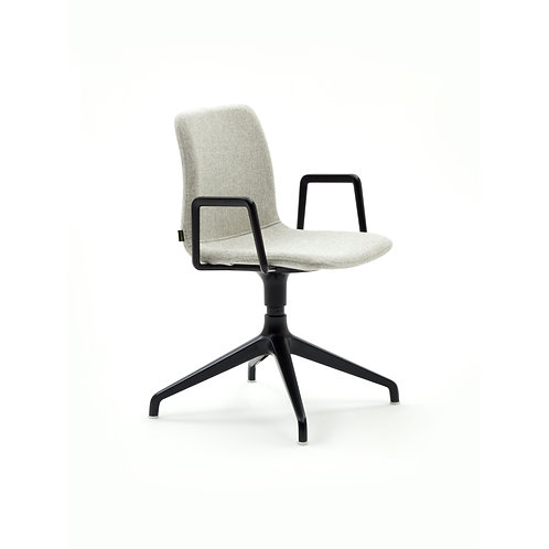 Naughtone Viv 4 Star Base With Arms Side Chair