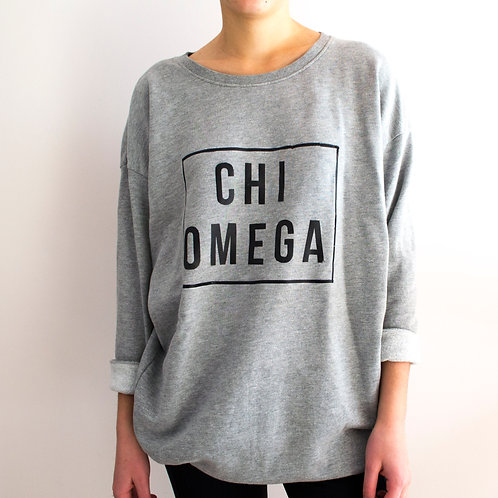 Chi Omega Slouchy Crew