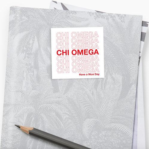 Chi Omega Thank You Bag