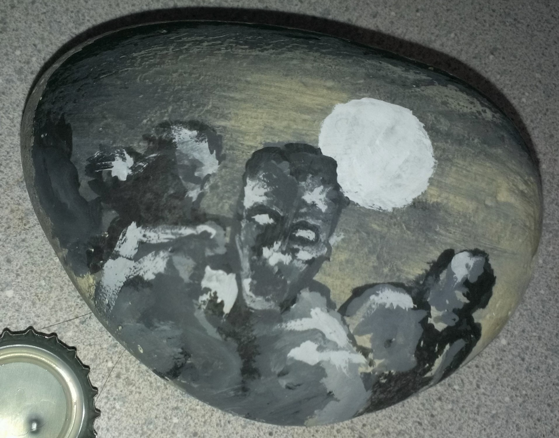 acrylic on stone