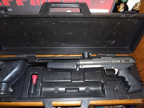 Tippmann Pro AM with hard case and USI Hopper