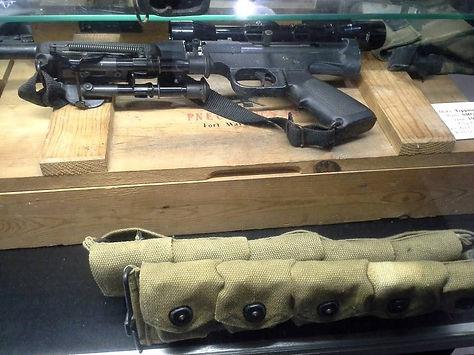 Tippmann SMG 60, Crate, Strip clip belt, bipod, scope.