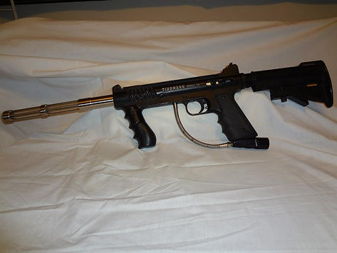 Tippmann Model 98 with response trigger and ram rod barrel