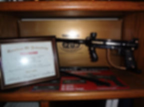 Tippmann 20th Aniversery marker and stand