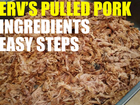 MERV'S PULLED PORK IN 3 EASY STEPS