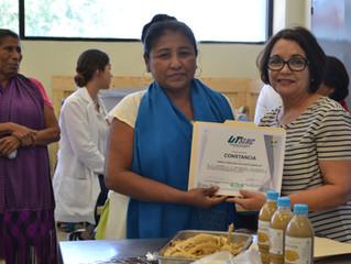 La Comunidad Yaqui participando en taller: Aprovechamiento de la vaina del mezquite, proceso de elab