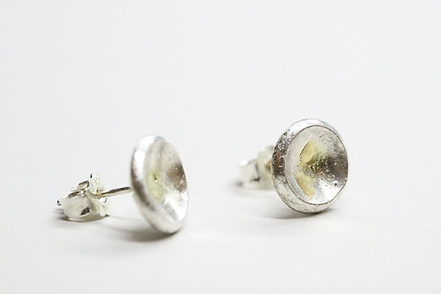 Ena earrings silver gold artistic design jewelry schmuck agathos nafplio greece camaraworkshop.com