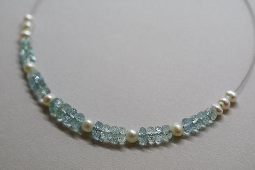 Kalliopi necklace aquamarine artistic design jewelry schmuck agathos nafplio greece camaraworkshop.com