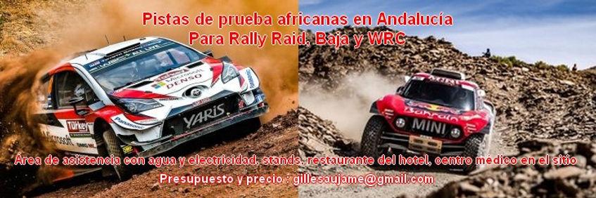 Pista prueba,Andalucia,dakar,rallye raid,baja,wrc