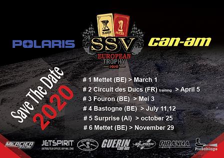 ssv european trophy,calendrier,2020,rallyeraidpassion.com