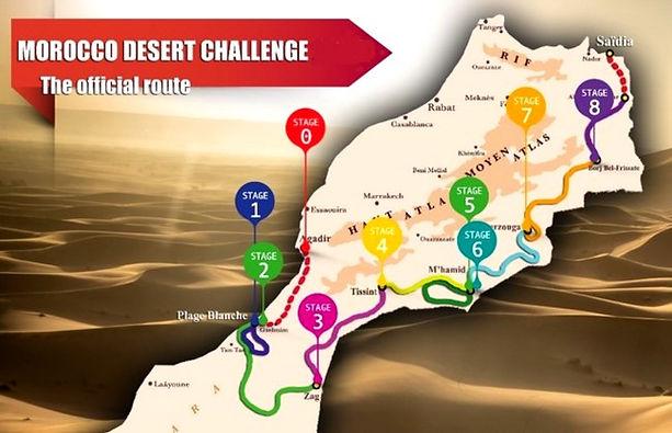 morocco,desert,challenge,2021,parcours,engagés
