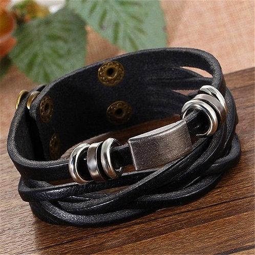 Bracelet cuir/Correa de cuero