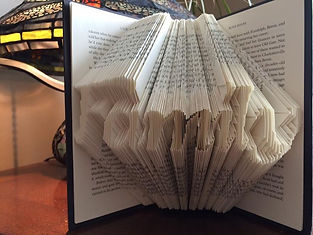 Book Art - Family - Folded book - Unique gifts and home decor