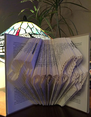 Book Art Custom name - Folded book - Unique gifts and home decor