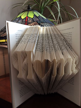 Book Art - Home - Folded book - Unique gifts and home decor
