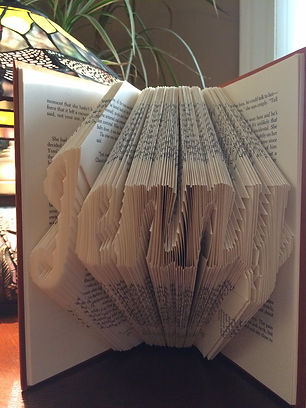 Book Art - Custom name - Folded book - Unique gifts and home decor