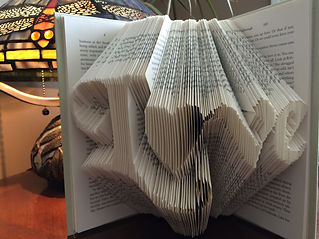 Book Art - Love - Folded book - Unique gifts and home decor