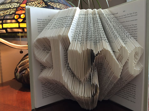 Book Art Love - Folded book - Unique gifts and home decor