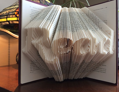 Book Art - Read - Folded book - Unique gifts and home decor